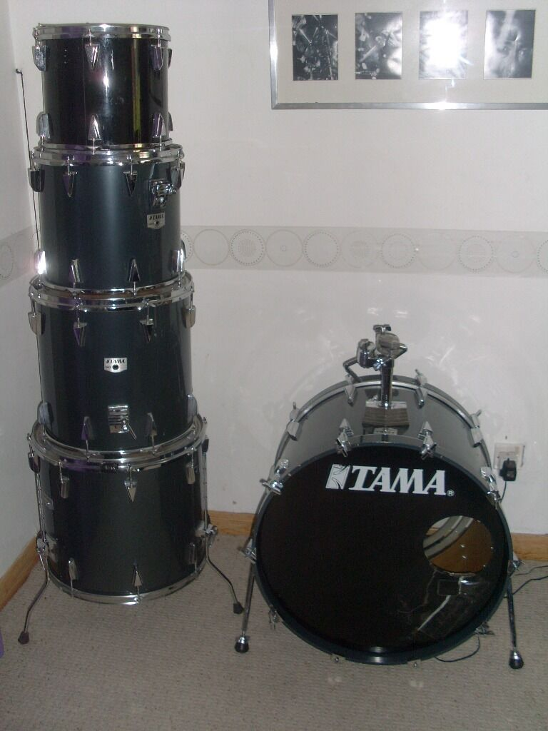 Tama granstar kit 24 kick 12 14 rack toms 16 18 for 16 x 12 floor tom