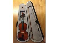 Beginner Full Sized 4/4 Violin With Bag