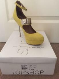 Topshop heels size 5 & Asos Bag