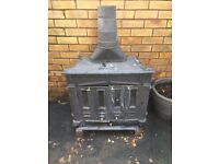 Cast Iron Wood Log Burner Stove