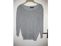 Lovely Angora jumper-grey with black spots from Dorothy Perkins