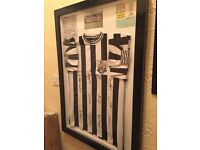 Newcastle united signed 1969 fairs cup winning team jersey