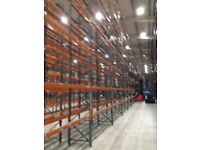 job lot 1000 BAYS dexion pallet racking AS NEW( storage , industrial shelving )