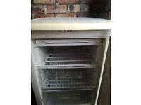 Freezer : Free standing undercounter freezer with 3 shelves / drawers plus ice bank shelf