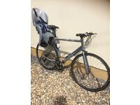 CLAUDE BUTLER 24 speed Bike & HAMAX KISS child seat ,in immaculate condition, hardly used