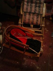 kids wooden slasher sleigh