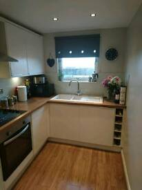 modern 2 bedroom fully furnished flat. G81 3BD. Would suit professional person or couple.