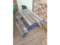 *Awaiting Collection* Children's garden picnic bench free for collection, needs bit of TLC
