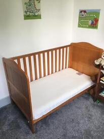 Mothercare cot bed+ mattress