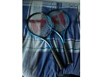 2x DONNAY Tennis Rackets 2nd hand good condition. Blue