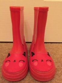 Mothercare Red Wellies Size 5 infant