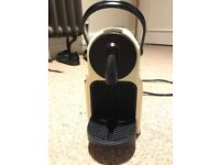 Nespresso coffee machine cream white retro bargain