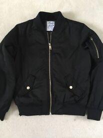 Girls black bomber jacket
