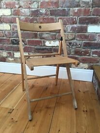 Wooden Folding chairs 4 available