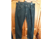 Levi 501 mens jeans blue/black