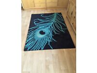 Next Peacock feather rug