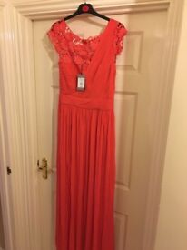 Stunning dress! COAST original rrp £195 Millie maxi lace coral size 12