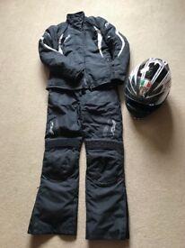 Ladies motorbike / motorcycle RST Textiles & AGV helmet