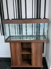 Juwel Rio 180 Aquarium and cabinet in dark wood