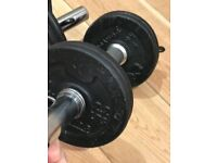 Set of Adjustable 5kg Barbells. Excellent Condition.