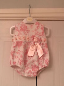 Baby Girl Abella Romper 0-3 months. Like New, Hardly Worn. From a smoke free home.