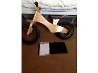 "Early Rider Lite Natural 12"" Kids Wooden Balance Bike (1.5 - 3.5 years)"