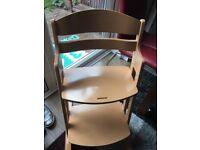 Babydan high chair similar to Stokke Tripp Trapp chair