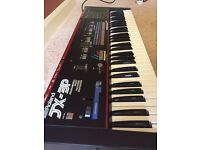 Roland JX-3P Vintage Polyphonic Analog Synthesizer Keyboard with flight case