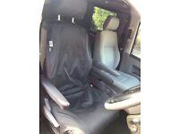 Vauxhall Vivaro 1.9 CDTI Single Heavy Duty Driver Captain Seat Cover Waterproof BLACK