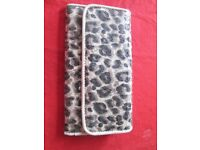Leopard patterned lady's purse