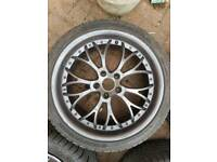 Alloys 5x108x18 with hankook tyres in great condition.