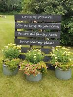 Wooden Pallet Seating Sign