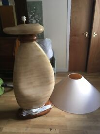 Unusual stone effect standing lamp