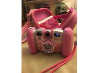 Vetch kidizoom camera pink with case