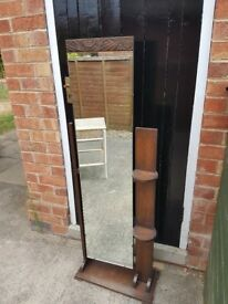 ANTIQUE Bedroom Dressing Vanity Mirror Very Old (my grans) Vintage