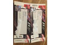 Formula 1 Silverstone 2017 tickets general admission Saturday Sunday X1