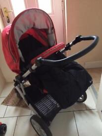 Britax push chair 3in1 with ISO fix attachment