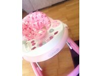 Graco baby walker, Pink, Hardly used as baby never took too using it.