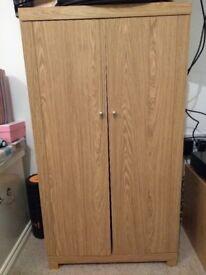 Dvd/CD oak veneer storage unit NEXT