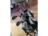 Full set of golf clubs howson with bag and trolley