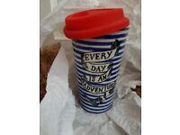 Anthropologie's Brand New Ceramic Travel Mug