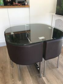 Glass 4-seater table