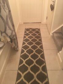 Grey runner rug