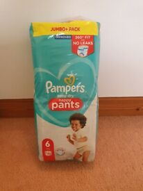 Size 6 pampers nappy pants