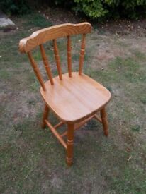 Solid pine farmhouse chair
