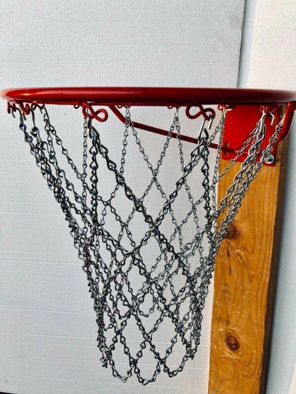 Basketball Chain Net Full SizeHeavy Duty Diamond Pattern Design Zinc Pltd Steel
