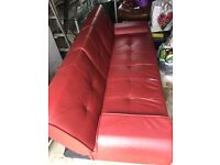 3 Seat Red Sofa Bed
