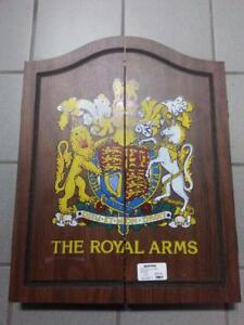 The Royal Arms Dart Board includes case,darts, and score keep. We sell used sporting goods. (#47541)