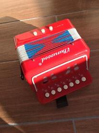 Reduced child's working accordion