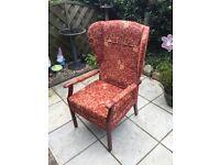 Upright armchair